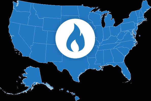 Natural Gas Map